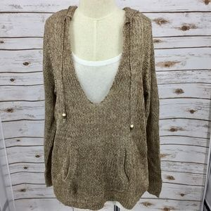 Motherhood sweater loose weave hoodie over tank XL
